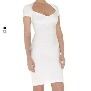 Herve Leger Raquel Dress- White